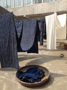 natural indigo dye fabric drying artisanal traditional hand made