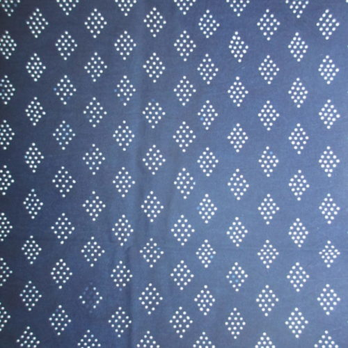 Diamonds pattern indigo artisanal pattern fabric textile handmade geometric design blue cotton