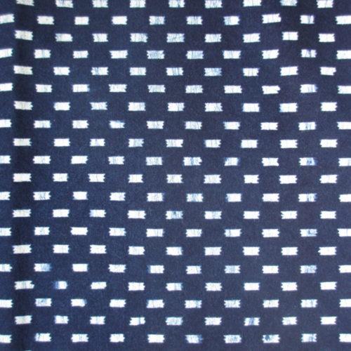 Check pattern artisanal indigo plant dyed Japanese geometric pattern fabric textile