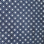 natural artisanal hand dyed blue and white indigo cotton fabric textile geometric pattern