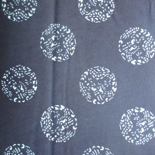 dragon sphere katazome pattern natural indigo cotton fabric
