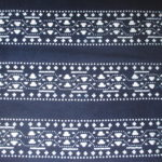 natural artisanal hand dyed blue and white indigo cotton fabric textile traditional geometric pattern