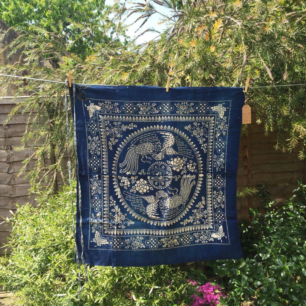 vintage indigo textiles blue and white