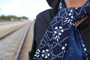 Handmade natural indigo cotton scarves