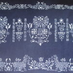 natural artisanal hand dyed blue and white indigo cotton fabric textile traditional ethnic pattern