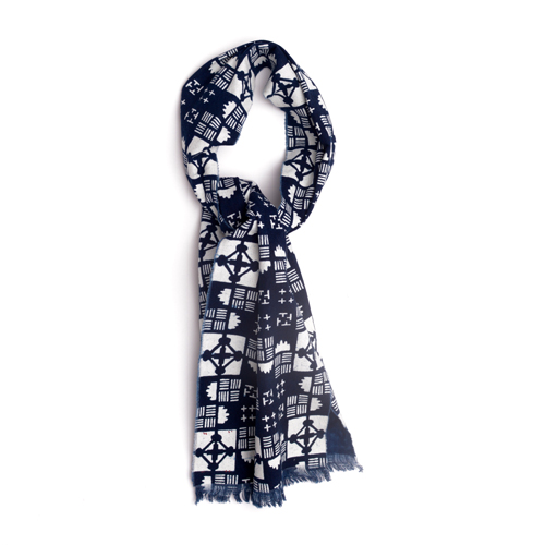 cravat cotton mens accessories indigo hand made
