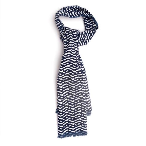 cotton cravat mens accessories indigo hand made