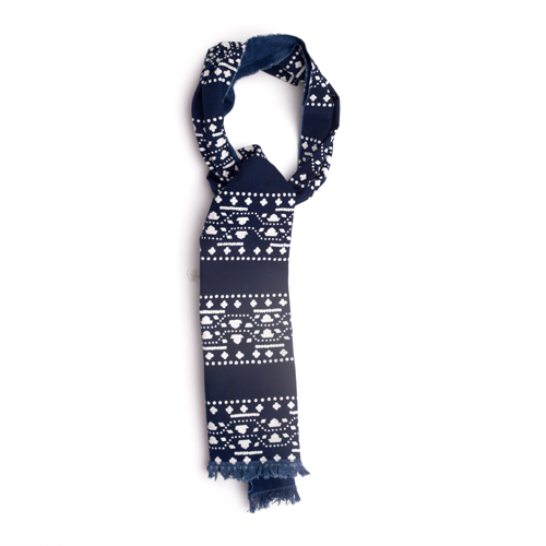 cotton cravat indigo mens accessories