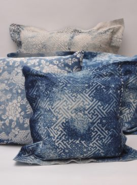 Vintage indigo cushions