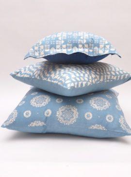 Light indigo cushions