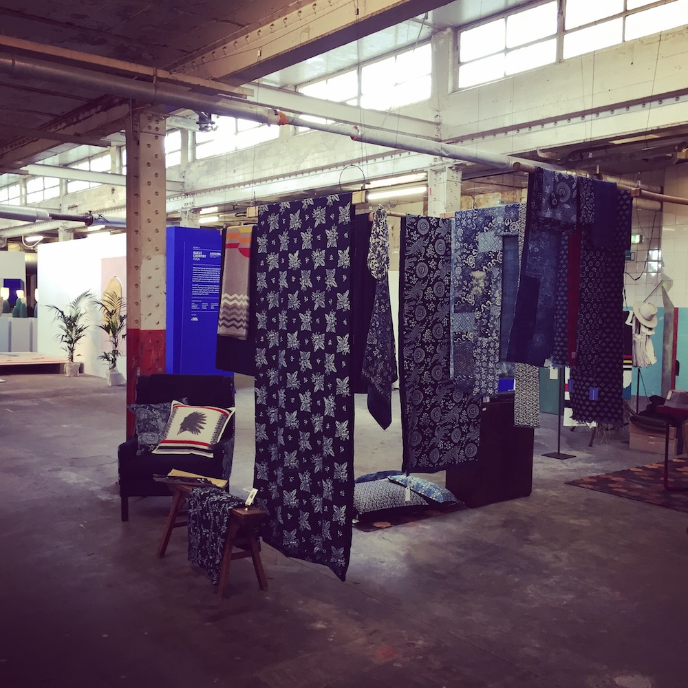 London Design Fair London Design Week Indigo Textile Vintage indigo