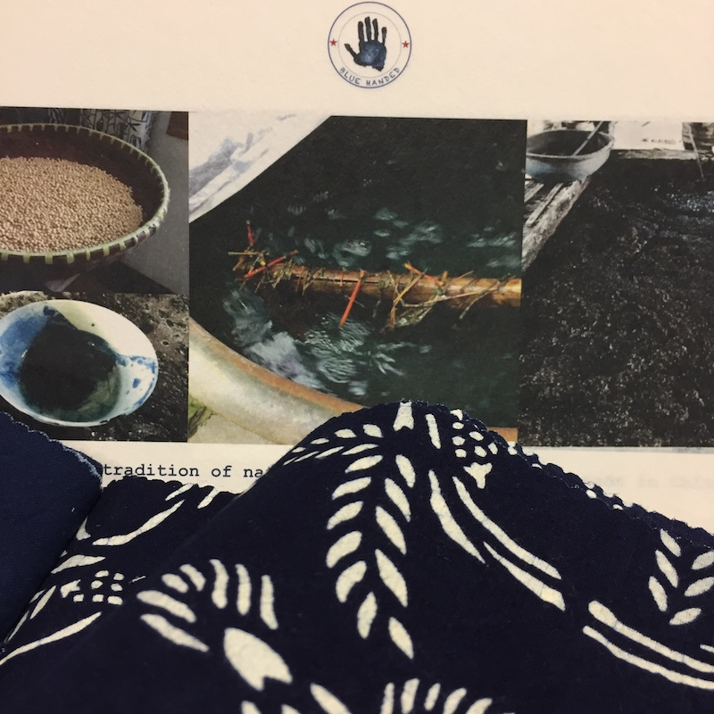 natural indigo handmade artisanal fabric textile