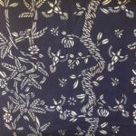 indigo fabric textile blue and white pattern design artist collaboraiton