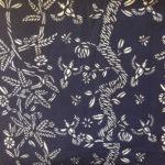 indigo fabric textile blue and white pattern design artist collaboraiton