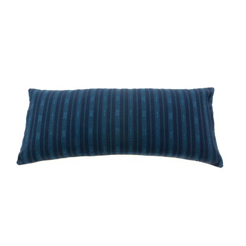 tribal pattern hand loomed hand made cushion traditional indigenous crafts home decoration interior design soft furnishings blue pattern stripe
