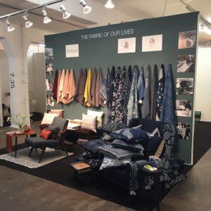 London Design Fair textile fabric home colleciton soft furnishings interior design artisanal blue indigo