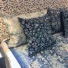 cushion blue and white antique indigo