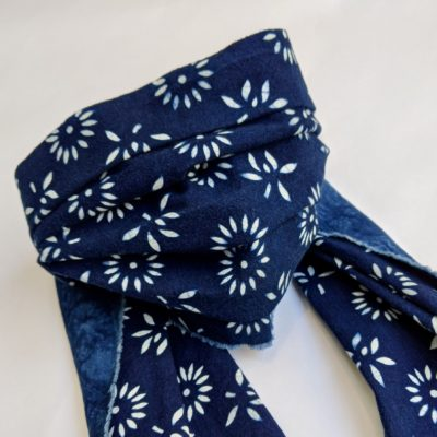 natural indigo dyed cotton hand made scarf
