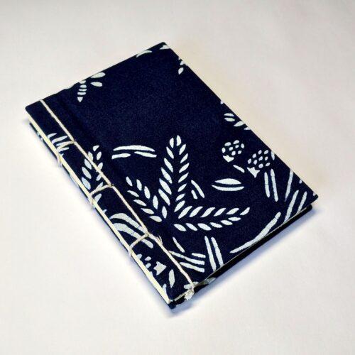 A6 Journal indigo fabric