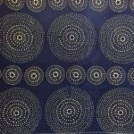indigo dyed cotton fabric textile contemporary katazome pattern