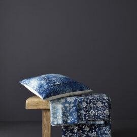 vintage indigo katazome cloths