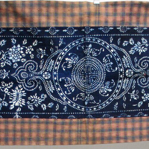 Antique indigo katazome wedding cushion cloth