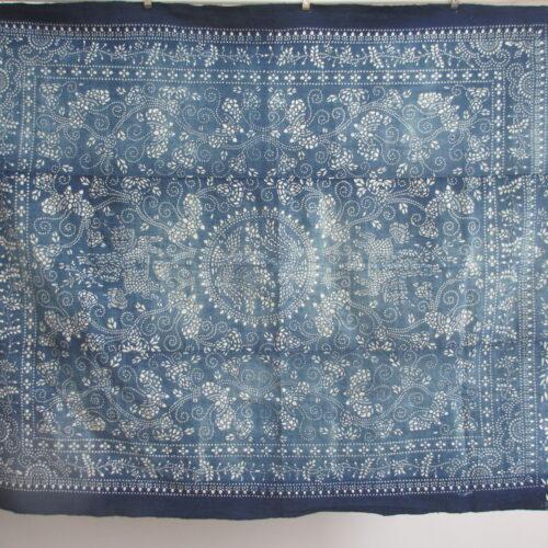 antique boro indigo katazome cloths